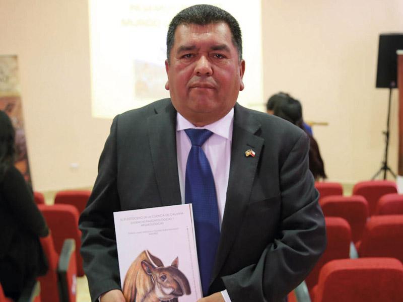 Osvaldo Rojas Mondaca: Director del Museo y Encargado de Patrimonio y Museos, de la Corporación de Cultura y Turismo de la Ciudad de Calama.